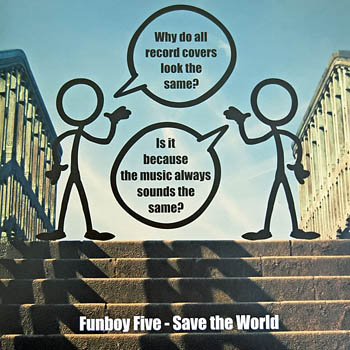 front cover of the Funboy Five single Save The World